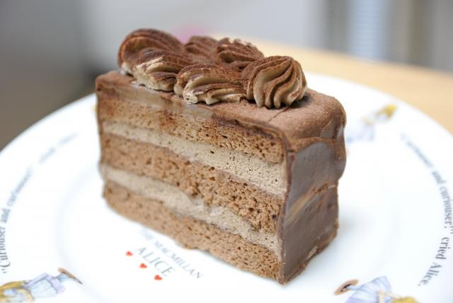ルクマ入りのチョコレートケーキ