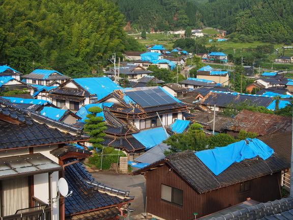 熊本地震の益城町小谷地区の被害