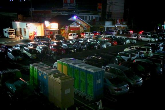 熊本地震による車中泊